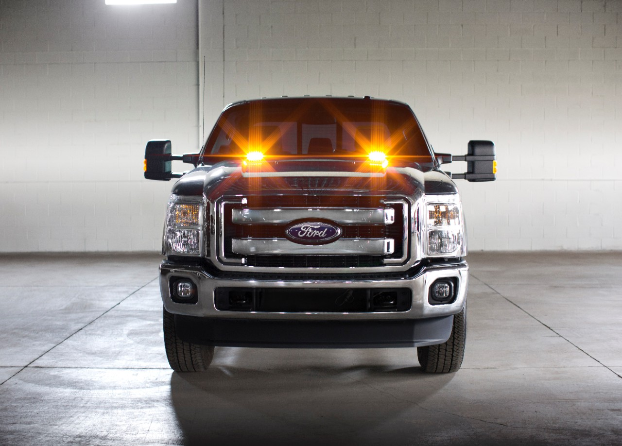 2016 ford super duty trucks offer factory installed strobe lights