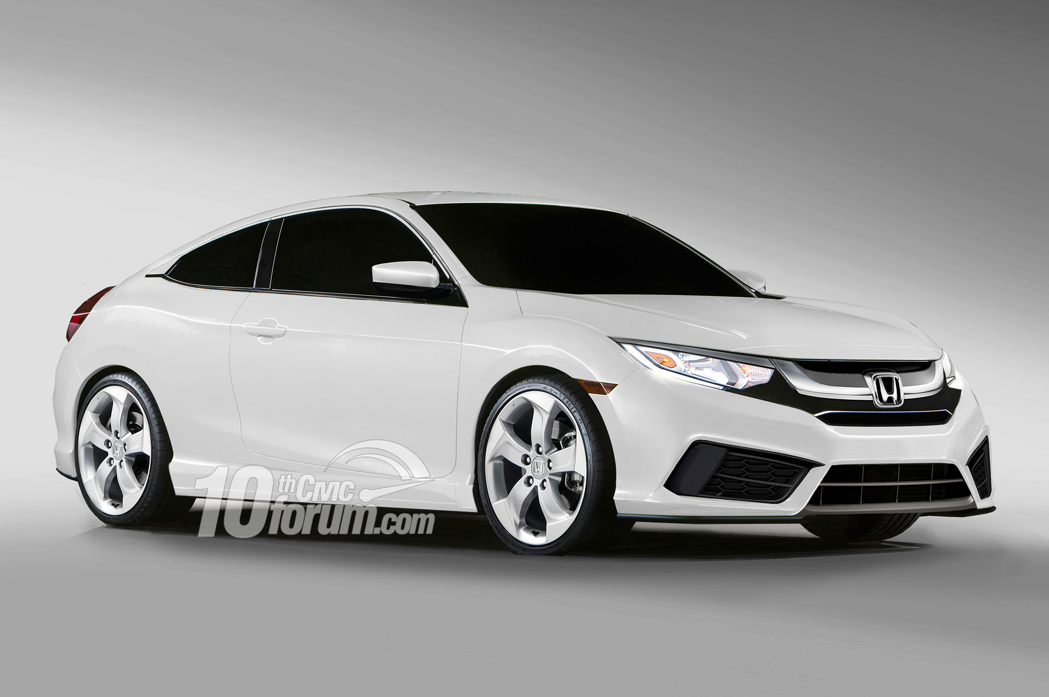 2016 honda civic coupe hatchback and sedan rendered for Honda 2016 models
