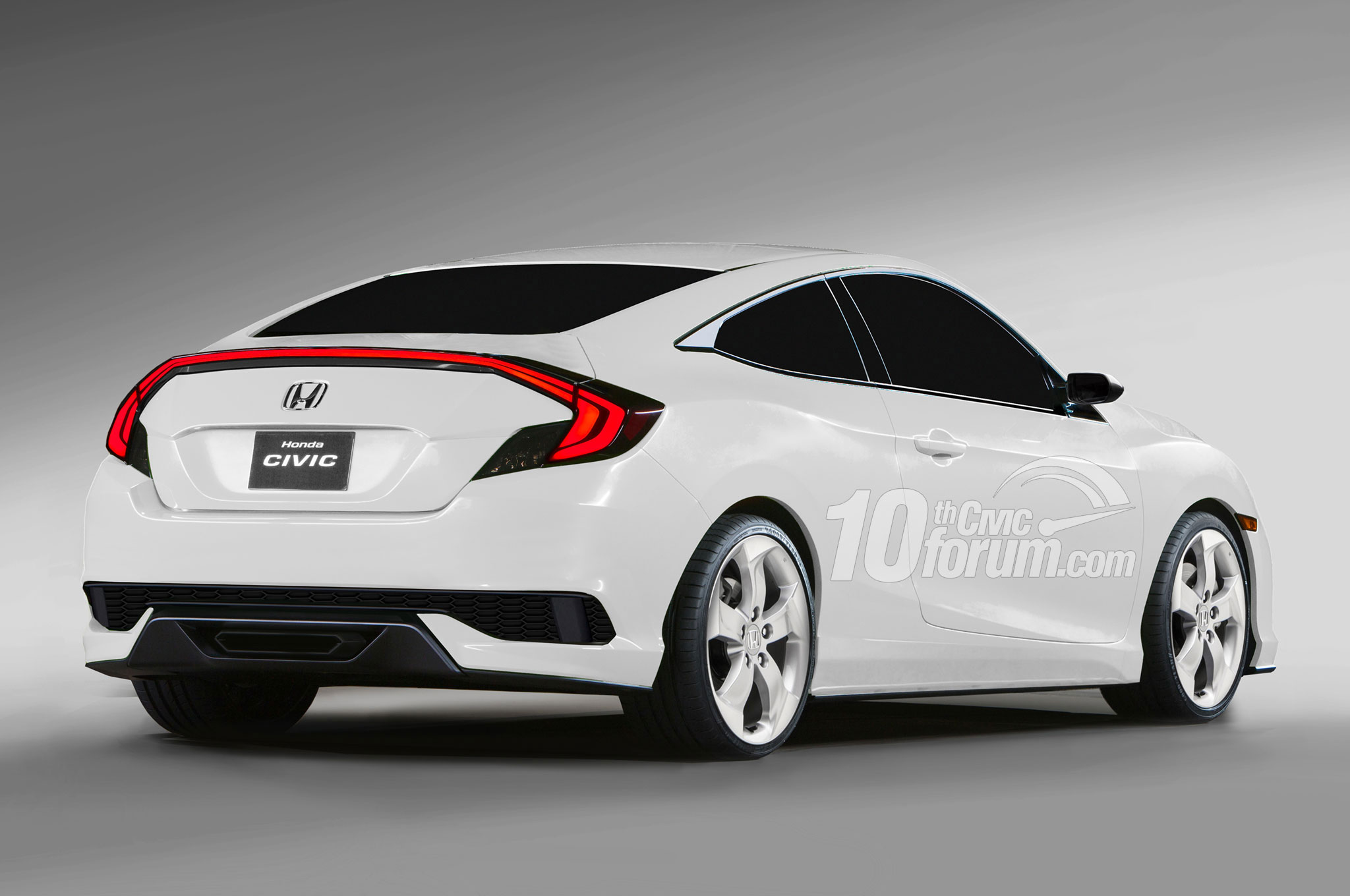 2016 honda civic coupe hatchback and sedan rendered news. Black Bedroom Furniture Sets. Home Design Ideas