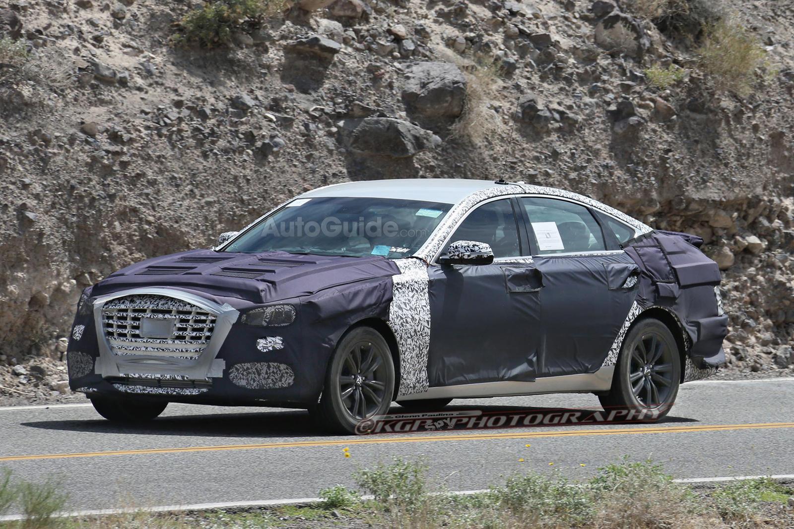 2018 Hyundai Genesis Sedan Caught Testing Twin-Turbo V6